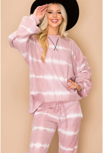 Load image into Gallery viewer, LOVELY J TIE DYE SWEATER PINK