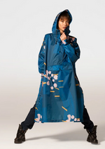 Load image into Gallery viewer, RAINKISS JAPANESE BLOSSOM PONCHO / RAIN JACKET