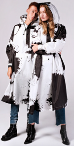 Load image into Gallery viewer, RAINKISS PAINT SPLASHES PONCHO / RAIN JACKET