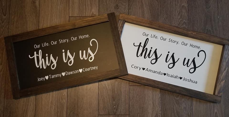 """THIS IS US"" SIGN 36X20"
