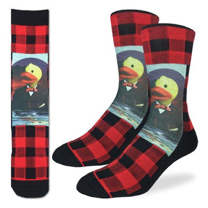 GOOD LUCK SOCK-  DASHING DUCKS-  SIZE 5-9