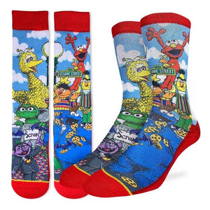 GOOD LUCK SOCK- SESAME STREET SIZE 5-9 AND 8-13C