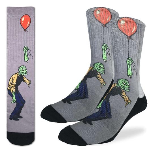 GOOD LUCK SOCK-SAD ZOMBIE -  SIZE 8-13