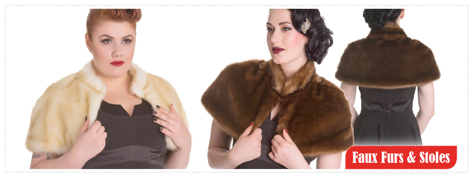 Faux Fur Stoles & Capes