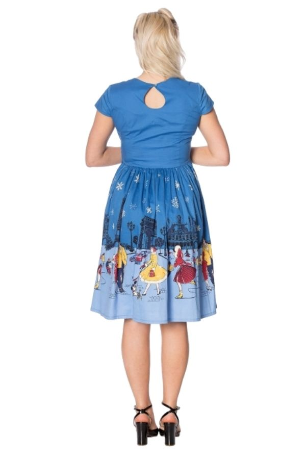 Banned Retro 50s Paris In Winter Swing Dress - Bohemian Finds