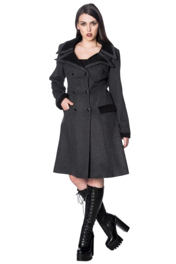 Banned Gothic Nosferatu Grey Coat - Bohemian Finds