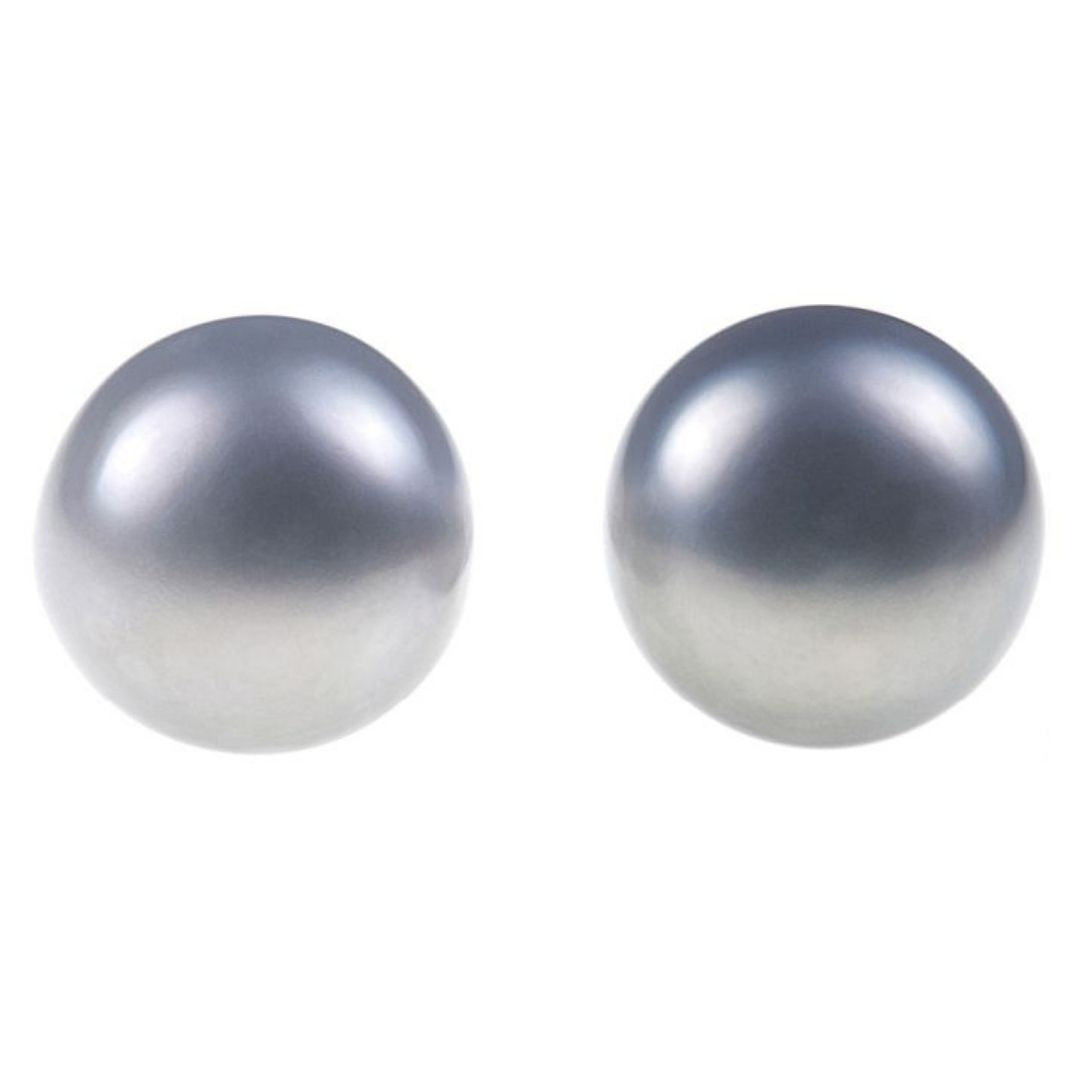 Rosie Fox Grey Freshwater Pearl Stud Earrings - Bohemian Finds