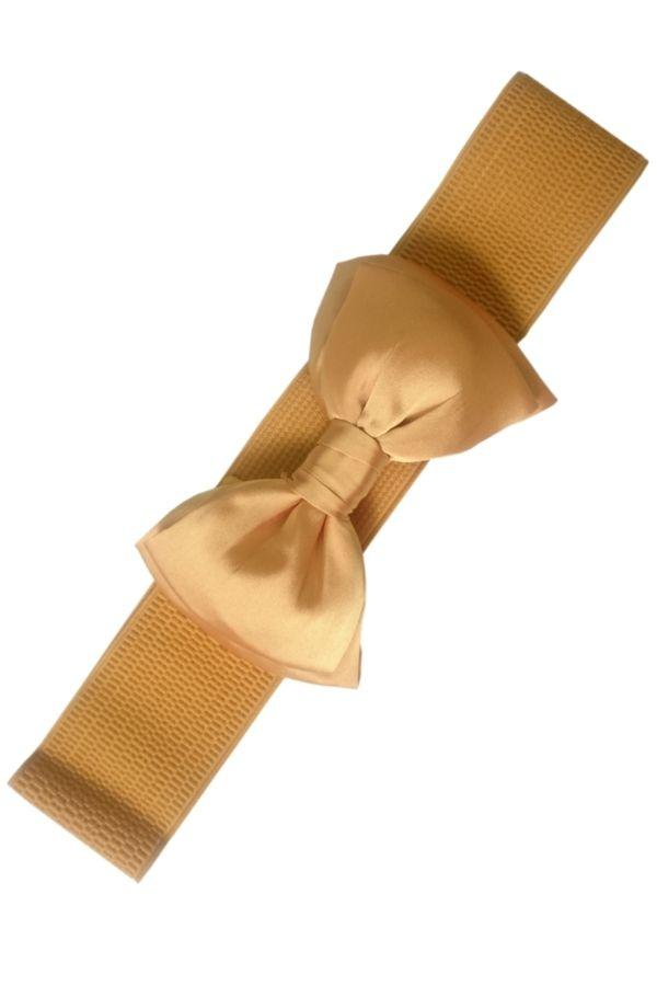 Banned Bella Bow Belt Mustard - Bohemian Finds