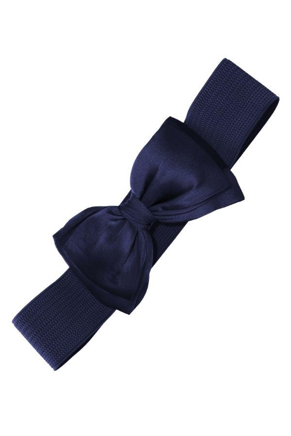 Banned Bella Bow Belt Navy - Bohemian Finds