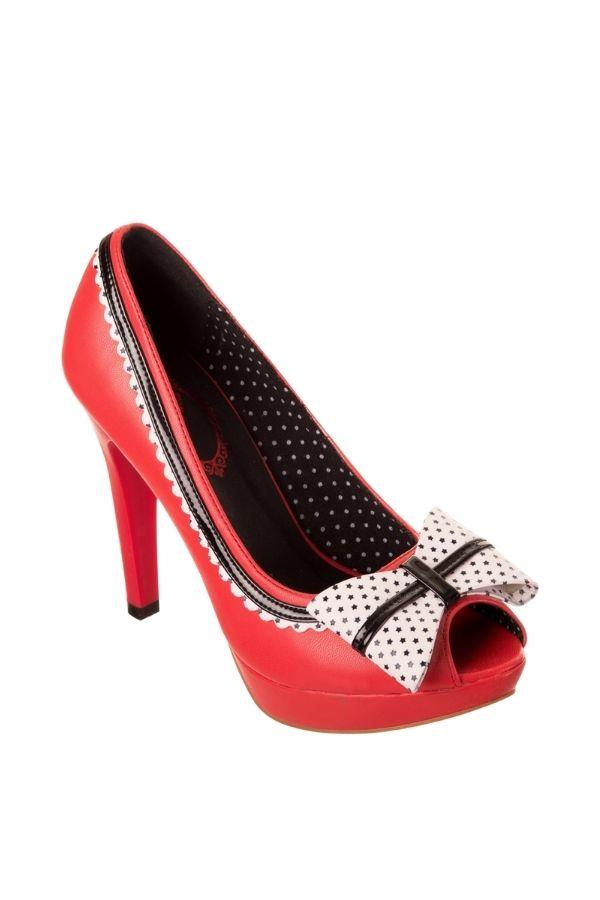 Banned BILLY JANE Red 50s High Heel Shoe - Bohemian Finds