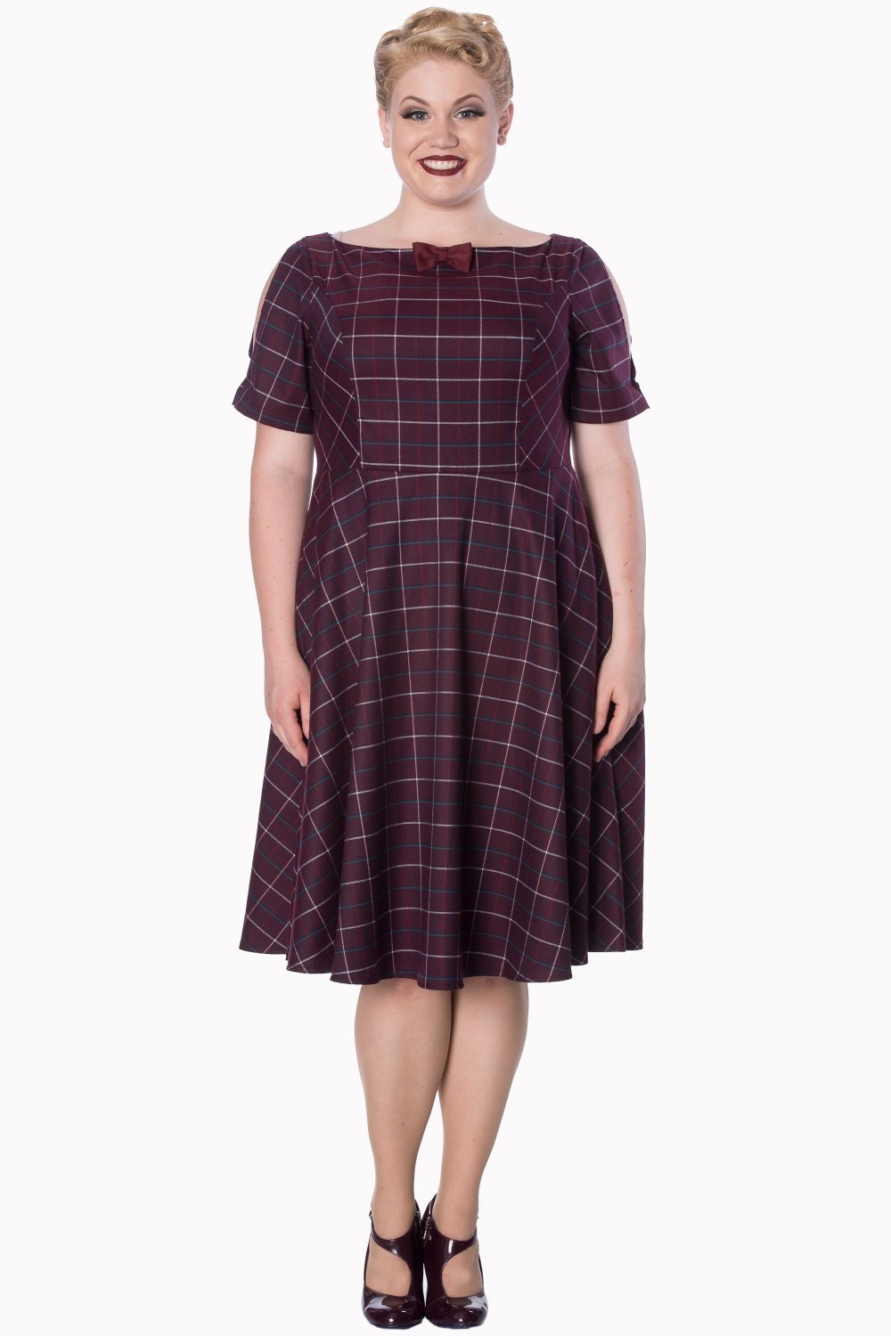Banned Eliza Burgundy Dress (Plus Size) - Bohemian Finds