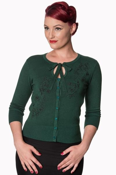 Banned Green Delilah Cardigan - Bohemian Finds
