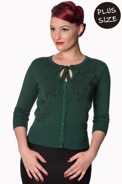 Banned Green Delilah Cardigan (Plus Size) - Bohemian Finds