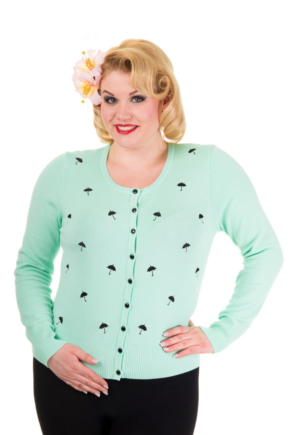 Banned Lolita Mint Cardigan (Plus Size) - Bohemian Finds