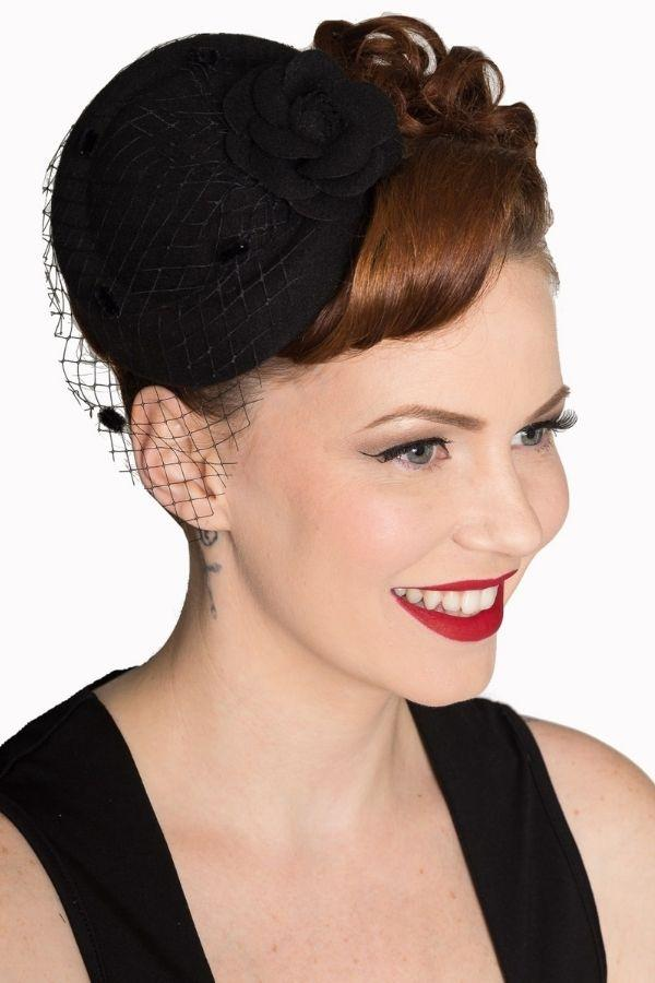 Banned Marilyn Black Vintage Retro Pillbox Hat - Bohemian Finds