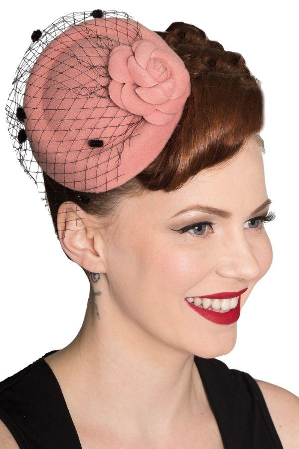 Banned Marilyn Pink Vintage Retro Pillbox Hat - Bohemian Finds