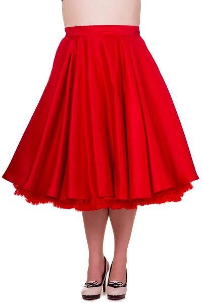 Banned Miracles Red Skirt (Plus Size) - Bohemian Finds