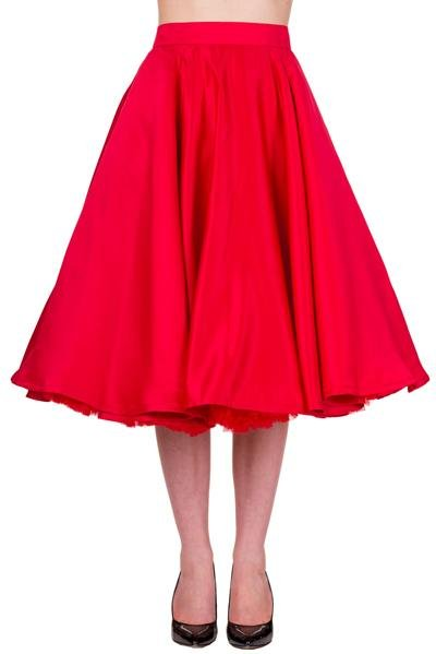 Banned Miracles Skirt (Red) - Bohemian Finds