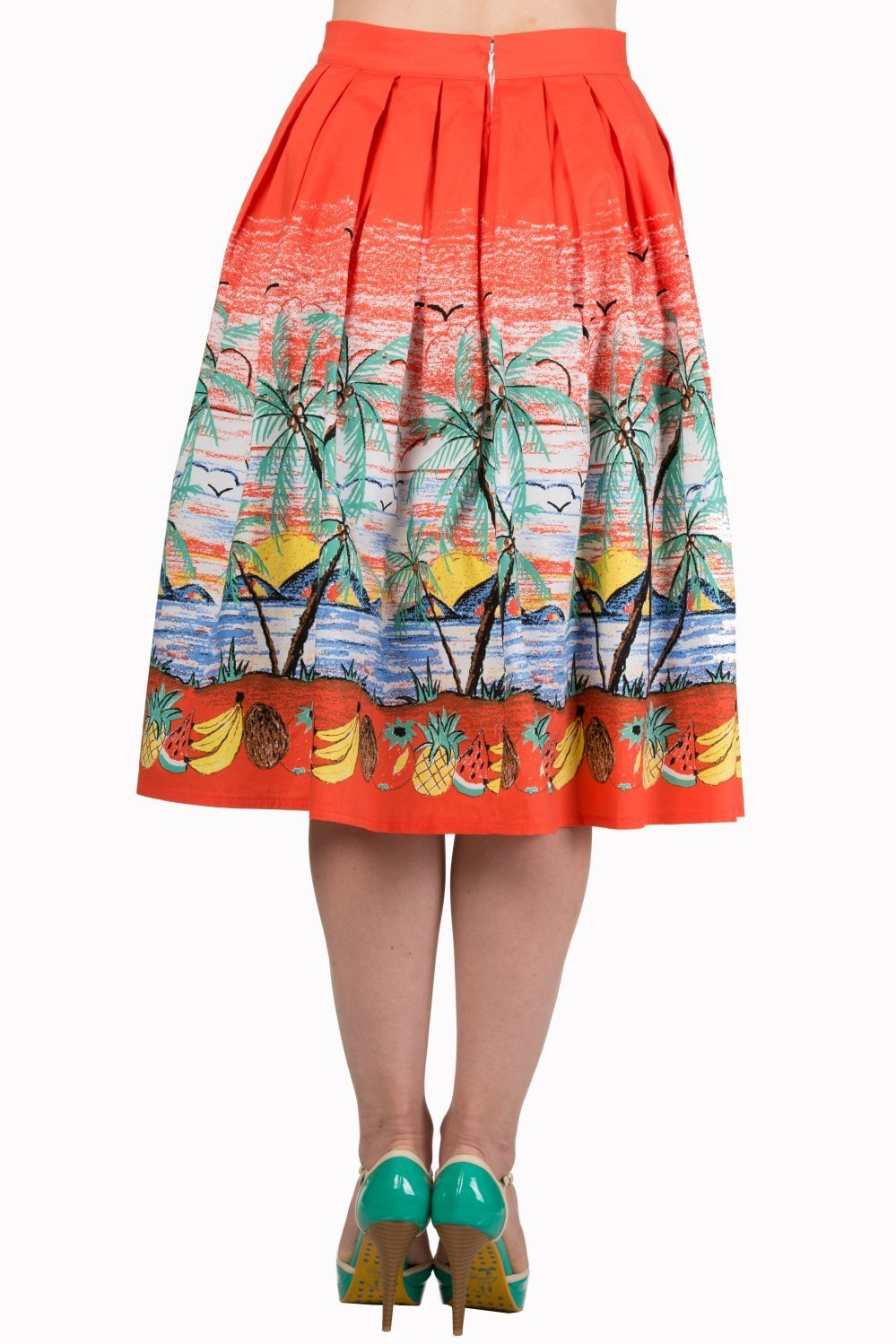 Banned Palm Springs Tropical Skirt (Plus Size) - Bohemian Finds