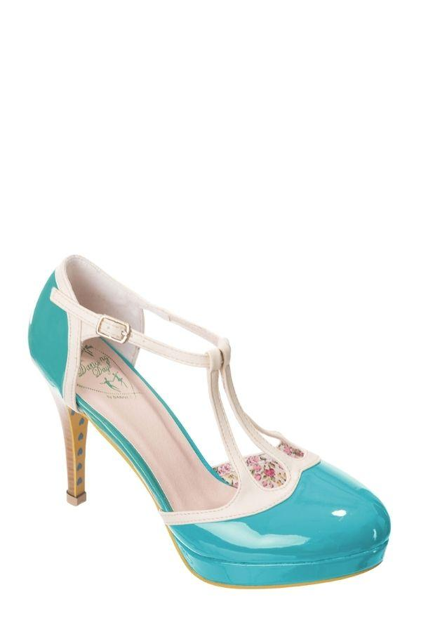 Banned Retro 50's Aqua Cream BETTY Rockabilly Heels - Bohemian Finds