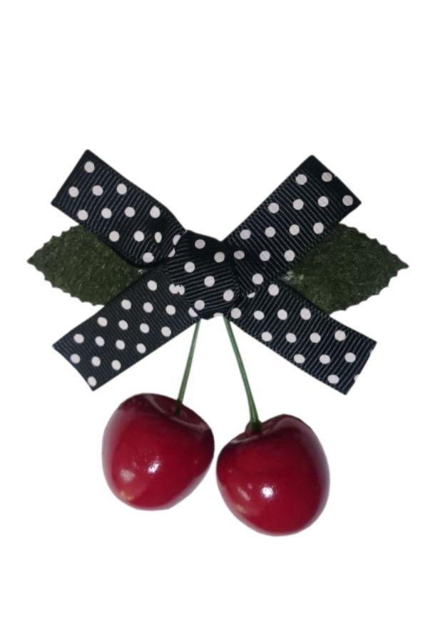 Banned Retro 50s Black Hamilton Cherry Hairclip - Bohemian Finds
