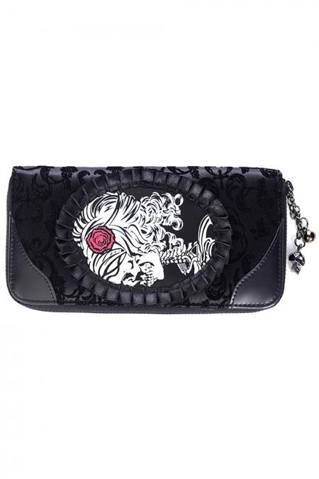 Banned Vine Black Cameo Lady Lace Wallet - Bohemian Finds