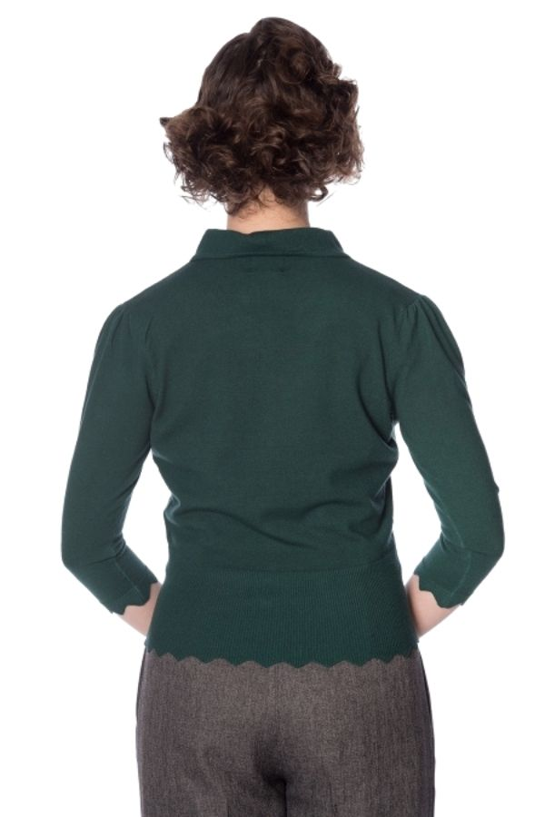 Banned Retro 50s Foxy Green Cardigan - Bohemian Finds