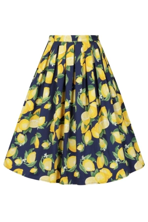 Banned Retro 50s Lemon Print Skirt - Bohemian Finds
