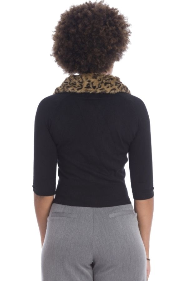 Banned Retro 50s Leopard Cardigan - Bohemian Finds