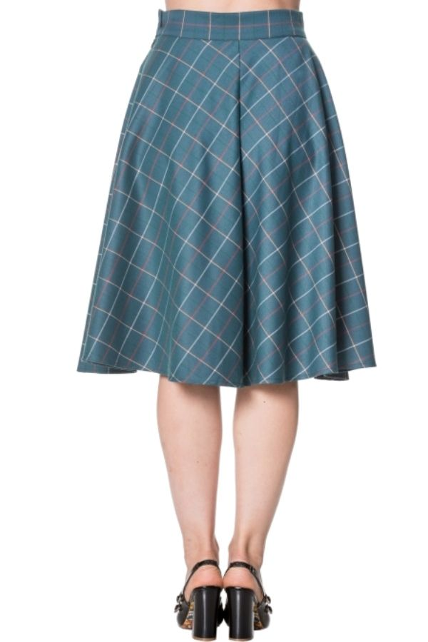 Banned Retro 50s Maddy Flare Skirt in Turquoise - Bohemian Finds