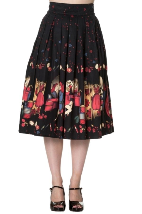 Banned Retro 50s Vanity Flare Skirt - Bohemian Finds
