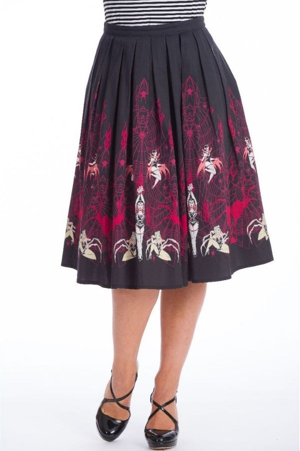 Banned Retro 50s Vixen Flare Skirt - Bohemian Finds