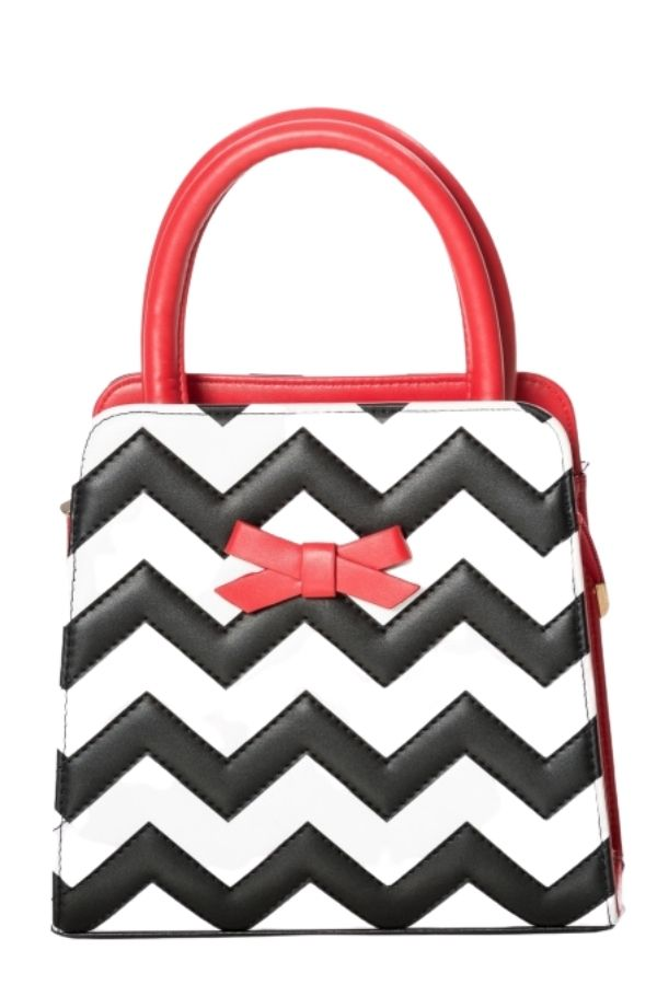 Banned Retro 50s Small Chevron Handbag - Bohemian Finds