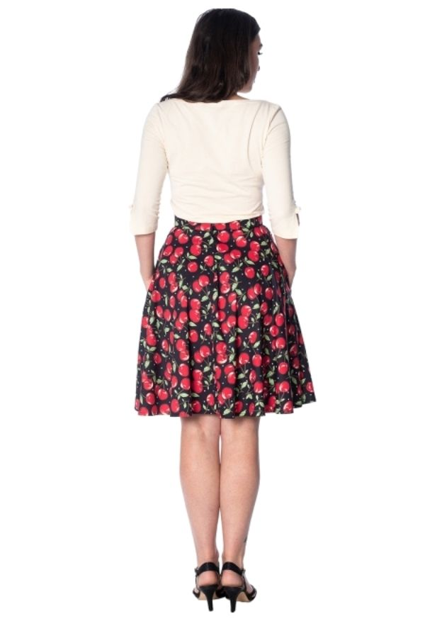 Banned Retro Cherry Soda 50s Pocket Skirt - Bohemian Finds