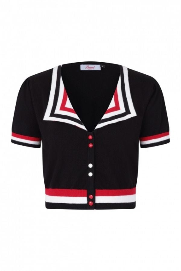 Banned Retro 50s Collar Sailor Top - Bohemian Finds