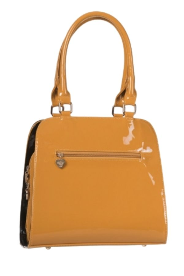 Banned Retro 50s Lila Mustard Handbag - Bohemian Finds