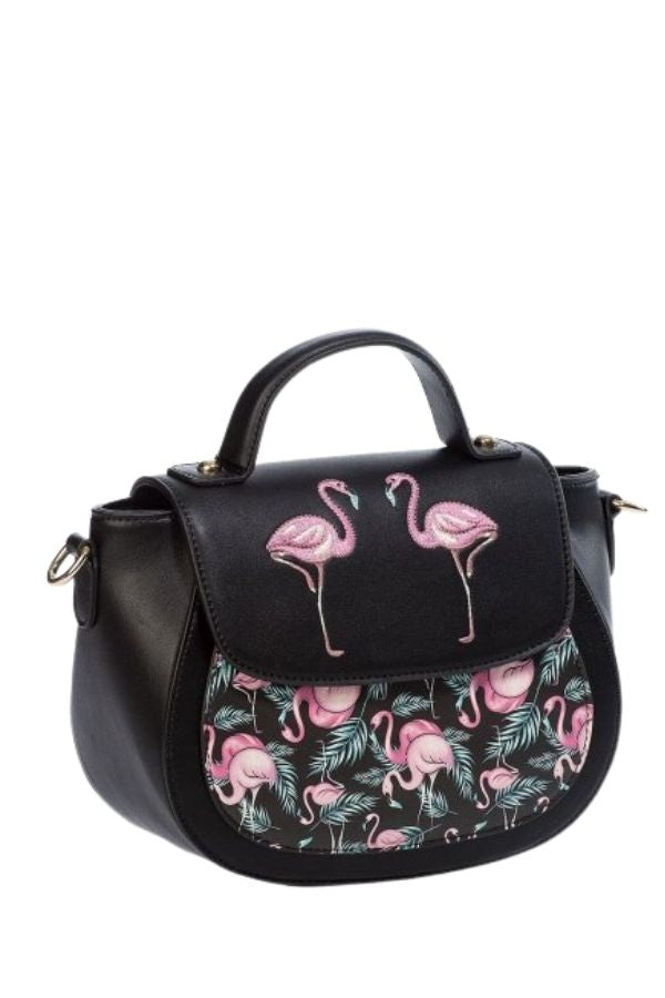 Banned Retro Malibu Flamingo Handbag - Bohemian Finds