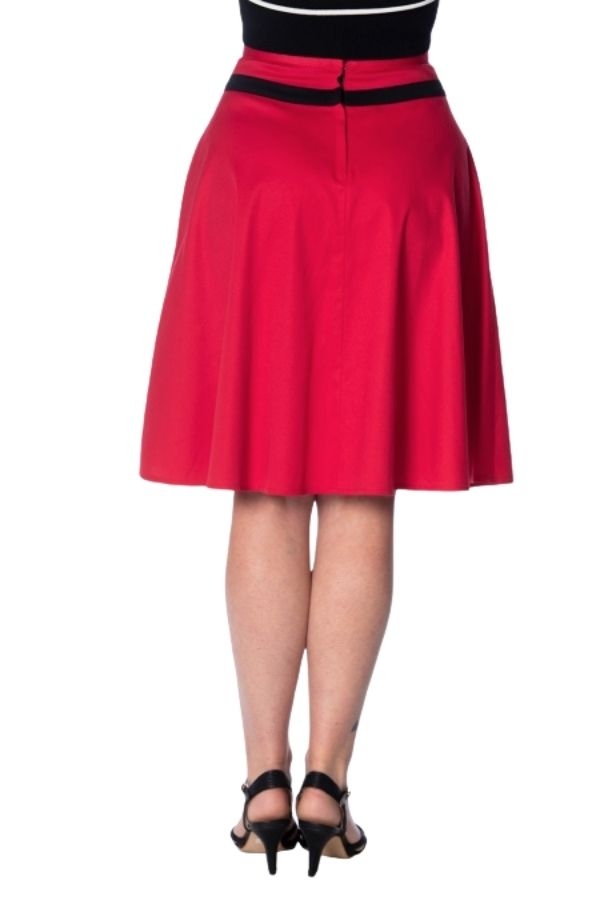 Banned Retro 50s Rockin Red Skirt - Bohemian Finds