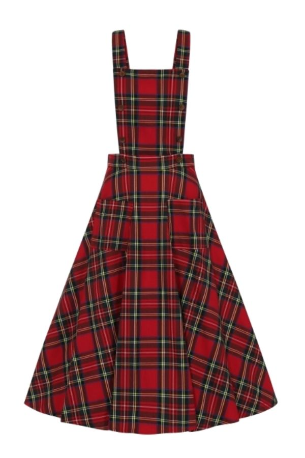 Banned Retro Sweet Tartan Pinafore Dress - Bohemian Finds