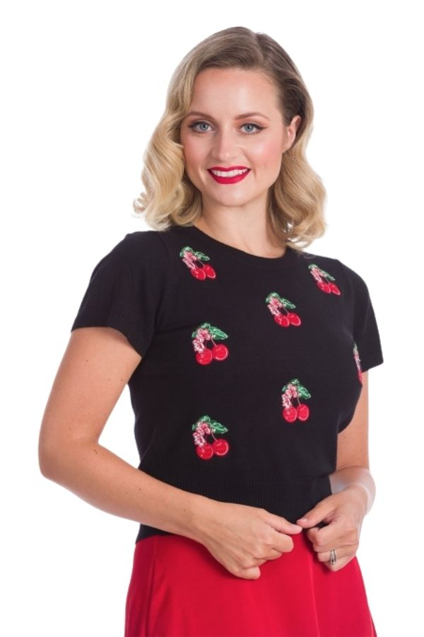 Banned Retro 50s Cherry Berry Jumper - Bohemian Finds