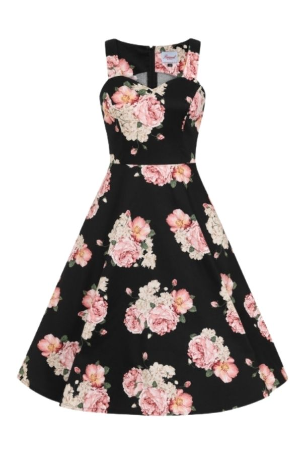 Banned Retro 50s English Rose Fit & Flare Dress - Bohemian Finds
