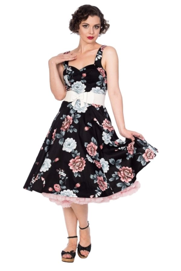 Banned Retro Evening Garden Dress Black - Bohemian Finds