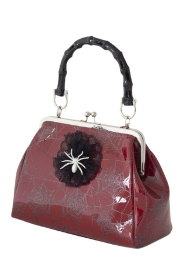 Banned Retro Killian Red Spider & Webb Frances Handbag - Bohemian Finds
