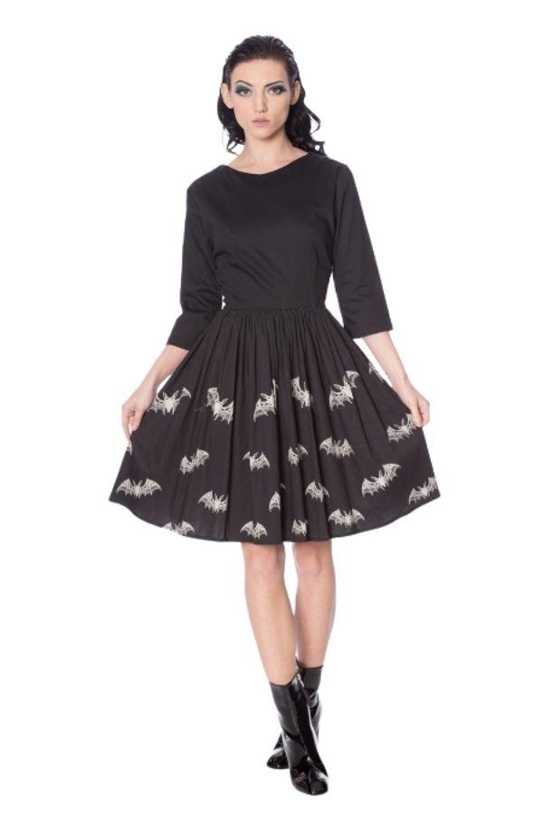 Banned Retro Lace Alternative Bats Dress - Bohemian Finds
