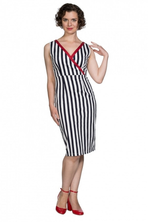 Banned Retro Land Ahoy 50's Pencil Dress