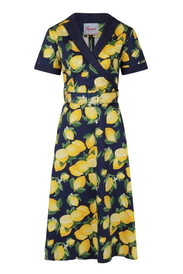 Banned Retro 50s Lemon Swing Dress - Bohemian Finds