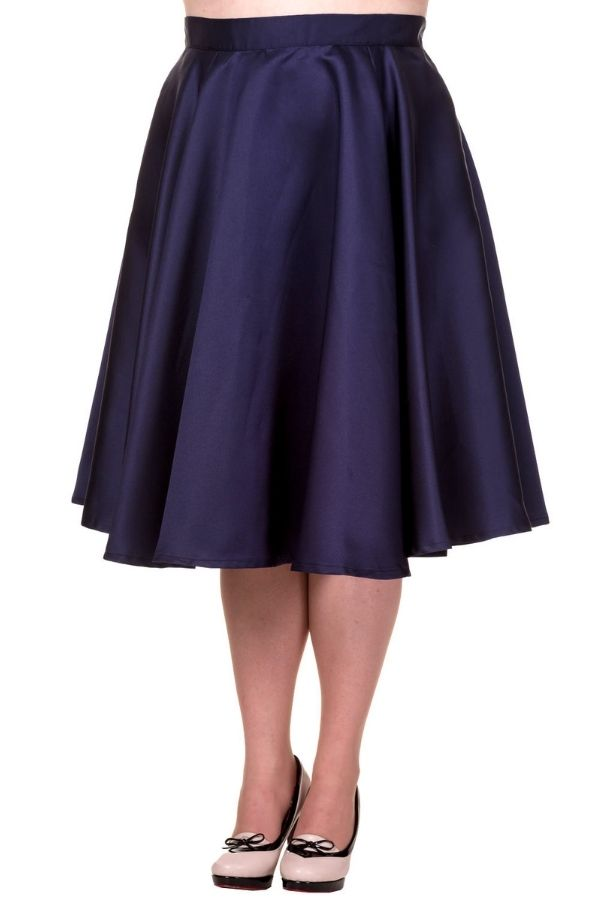 Banned Miracles Navy Skirt (Plus Size)