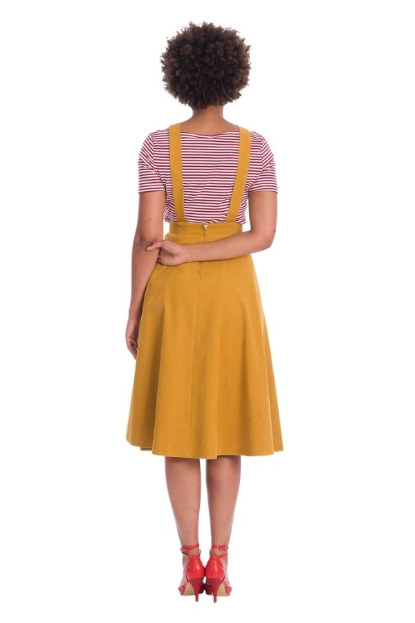 Banned Retro Book Smart 50s Pinafore Dress - Bohemian Finds