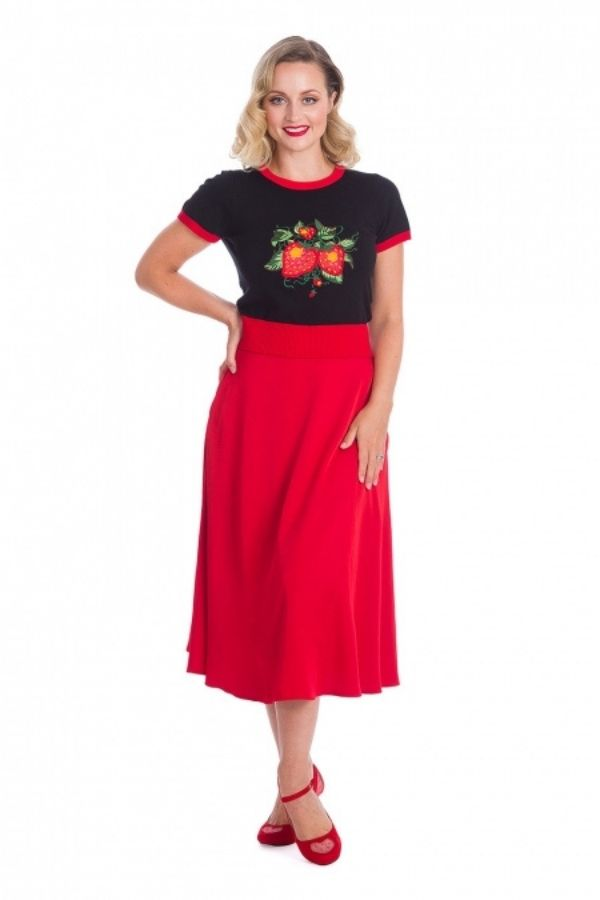 Banned Retro 50s Strawberry Fields Top - Bohemian Finds