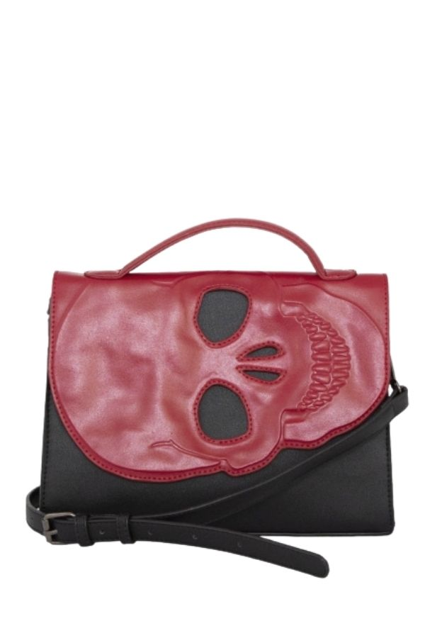 Banned Retro Tenebris Skull Shoulder Bag